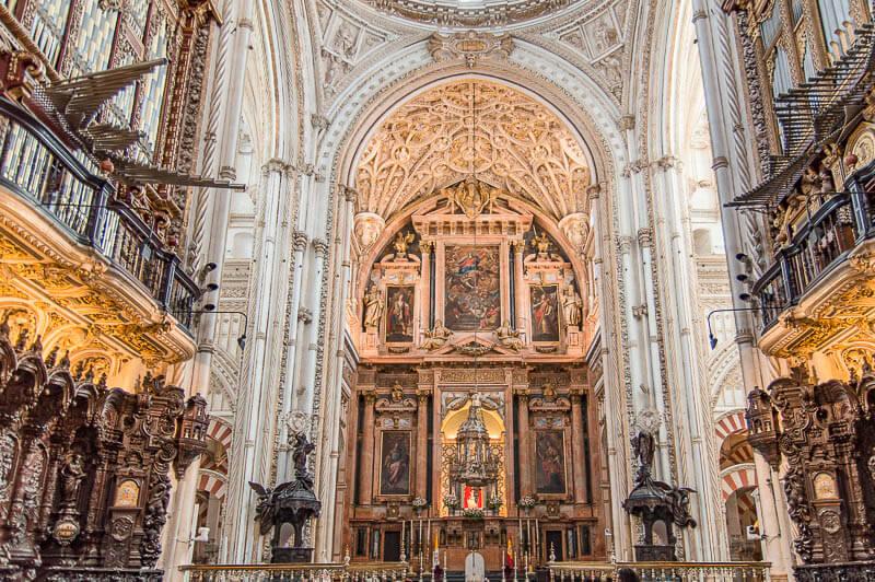 Capilla Mayor. Visita a la Mezquita Catedral de Córdoba